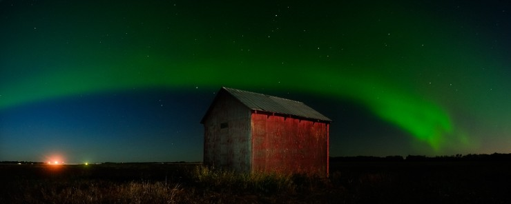 """Northern Lights 2"" Photo taken about 25 minutes north of Edmonton, Alberta"