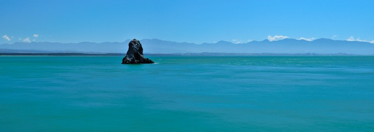 """Fifeshire Rock Panorama"", Tasman Bay, New Zealand."