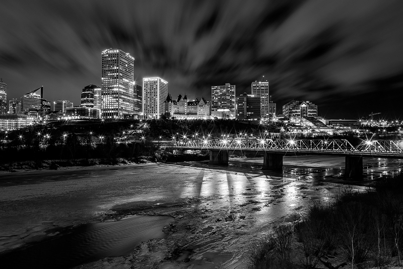 edmonton from the James Macdonald bridge