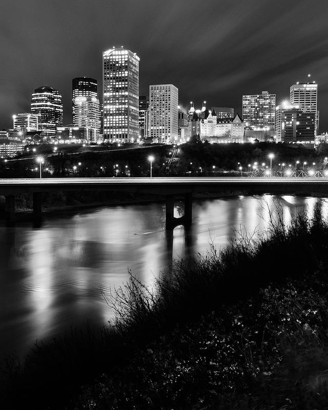 Long exposure downtown Edmonton